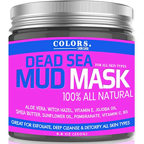 Dead Sea Mud Mask - Witch Hazel And Aloe Great for Acne, Oily Skin & Blackheads - Best Facial Pore Minimizer, Cleansing Treatment - With Added Vitamins C, E, B3, and Jojoba - Natural And All Vegan (Mineral From The Dead Sea Magic Mud Masque)