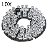 10Pcs 48 LED IR Infrared Illuminator Bulb Board For CCTV Security Camera - Arduino Compatible SCM & DIY Kits