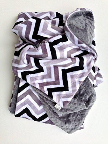 Throw Blanket, Grey Chevron, Dorm Room Blanket, Adult Throw, Couch Blanket 50 x 60 in