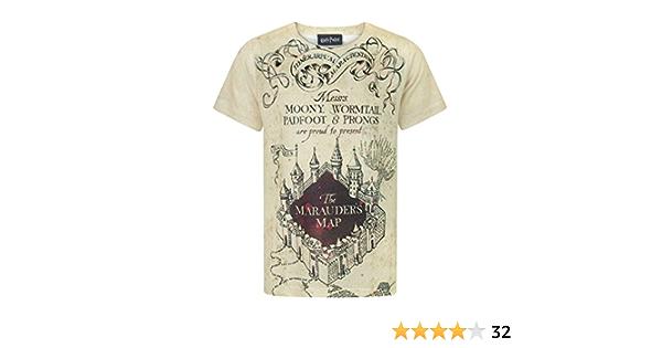 Harry Potter - Camiseta con diseño del Mapa del Merodeador para niños y niñas