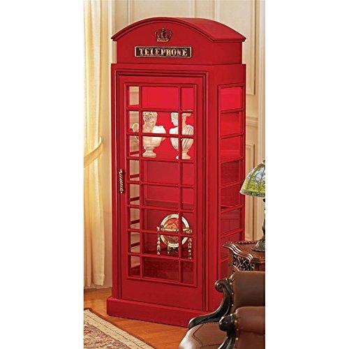 Telephone British - Design Toscano British Telephone Booth Display Cabinet