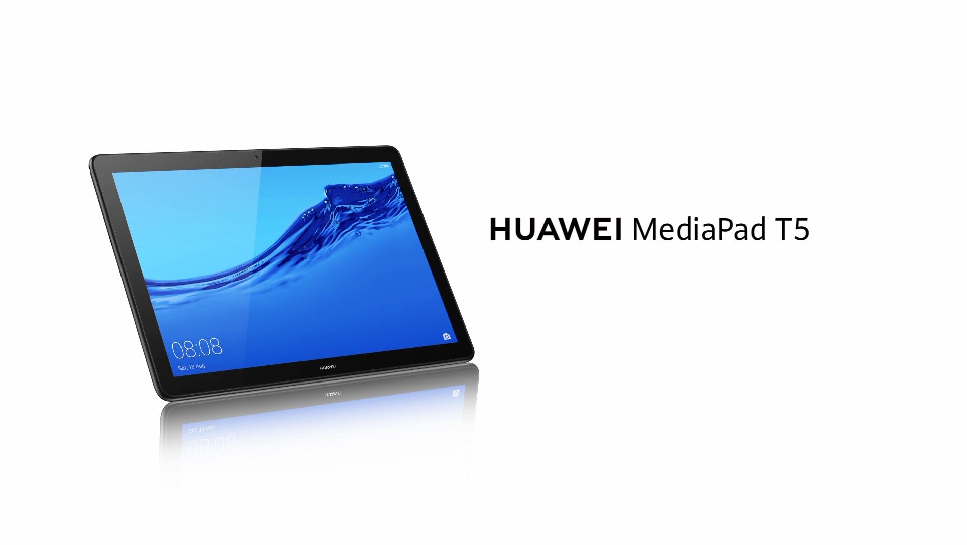 "Huawei MediaPad T5 Tablet with 10.1"" IPS FHD Display, Octa Core, Dual Harman Kardon-Tuned Speakers, WiFi Only, 2GB+16GB, Black (US Warranty)"