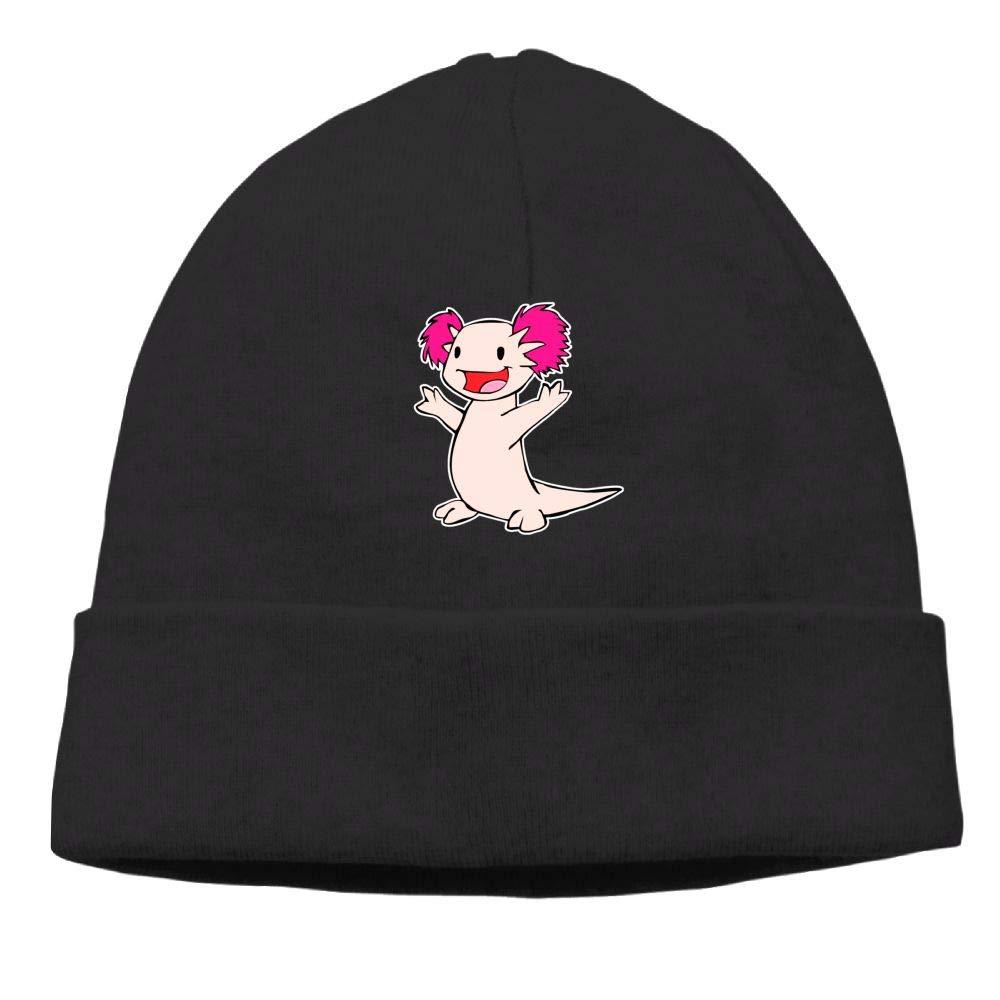 Michgton Happy Axolotl Beanie Cap Knit Caps Unisex Slouchy Soft