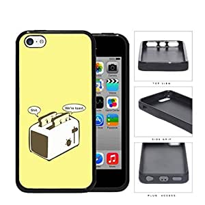 MMZ DIY PHONE CASEFunny We Are Toast Toaster Cartoon w/ Yellow Background iphone 6 plus 5.5 inch Rubber Silicone TPU Cell Phone Case