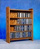 4 Shelf CD Storage (Honey Oak)
