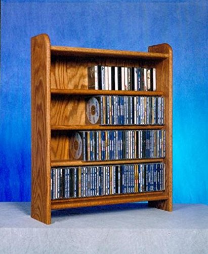 4 Shelf CD Storage (Honey ()