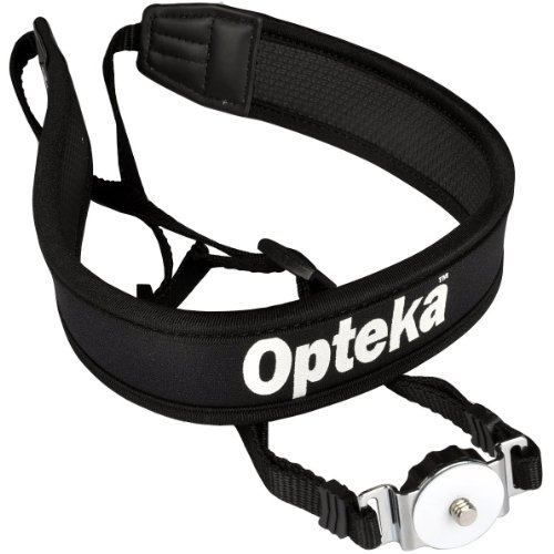 Opteka NS-7 Tripod Mounted Swivel Camera Neck Strap System for DSLR Cameras (Black) - Neoprene Shock Absorber Digital Camera