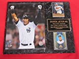Yankees Derek Jeter 2 Card Collector Plaque #2 w/ 8x10 2014 FINAL HOME GAME Commemorative Photo