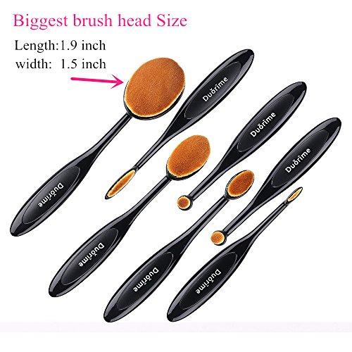 Duorime New 7pcs Black Oval Toothbrush Makeup Brush Set Cream Contour Powder Concealer Foundation Eyeliner Cosmetics Tool …