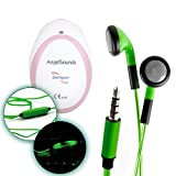 DURAGADGET Novelty LED Flashing Light Earphones - Stylish Vibrant Neon Light-Up Rechargeable Earphones in Dazzling Green - Compatible with the AngelSounds Fetal Doppler Baby Heart Monitor