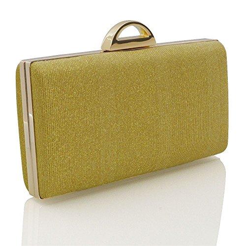 Glitter Bag Womens Glitter Gold Sparkly Purse Glam Evening Clutch Essex x1w0IRgw
