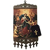 Mary, Untier of Knots Hanging Tapestry - Catholic Gift includes FREE Rosary Pouch