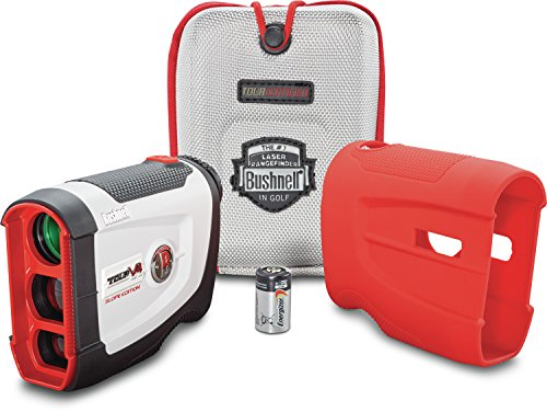 Bushnell Tour V4 Shift Patriot Pack Laser Golf Rangefinder with Slope-Switch Technology (White/Grey) by Bushnell