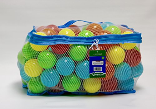 Tech Traders ® 100 Multi Coloured Play Balls (Net Carry Bag with Hand Tag)