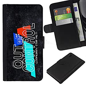 Planetar® Colorful Pattern Flip Wallet Leather Holster Protective Skin Case Cover For Sony Xperia Z4 / Sony Xperia Z4V / E6508 ( Out Of Control )