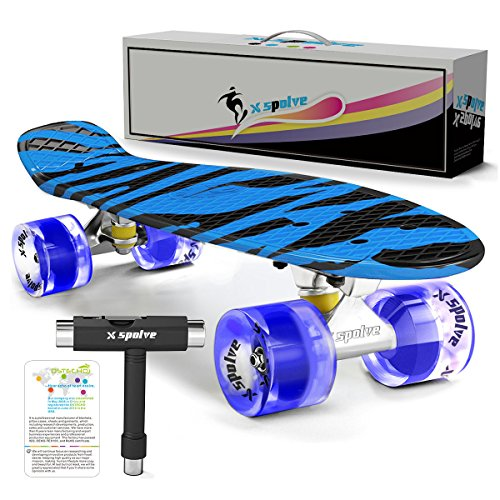 22' Complete Skateboard with Colorful LED Light Up Wheels for Kids,Youths,...