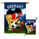 Ornament Collection S192097-BO World Cup Germany Soccer Interests Sports Impressions Decorative Vertical House 28″ X 40″ Garden 13″ X 18.5″ Double Sided Flags Set Printed in USA Multi-Color