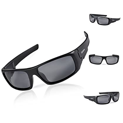 099fa61fd7 ... Duduma Tr601 Polarized Sports Sunglasses for Baseball Cycling Fishing  Golf Superlight Frame (Black Frame  ...