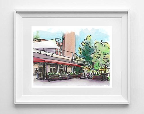 Passerelle Bistro | Falls Park on the Reedy | Greenville, SC | Giclee Art (Passerelle Des Arts)