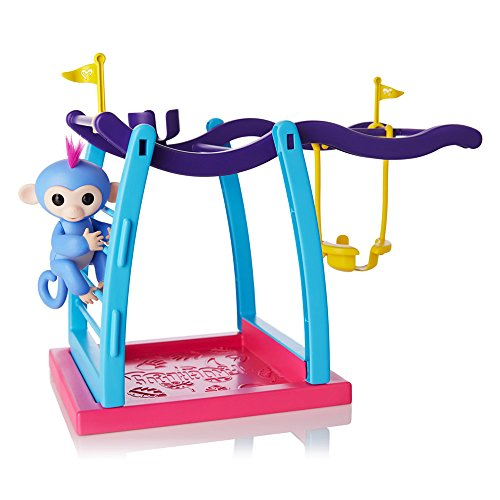 WowWee Fingerlings Playset - Monkey Bar/Swing Playground with 1 Fingerlings Baby Monkey Toy