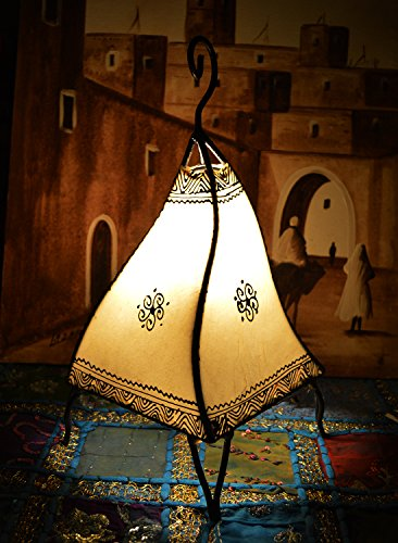 (Moroccan Hand made Leather lamp henna tattoo African)