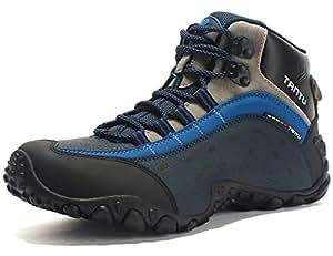 TANTU Hombre Botas de Senderismo Impermeables de Ocio al Aire Libre Zapatos de Deporte Zapatillas de Senderismo Cordones Trainer Botas 39-46: Amazon.es: ...