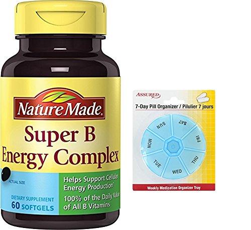 Amazon.com: Naturaleza hecha Super complejo B fuerte Softgel, cuenta 60: Health & Personal Care