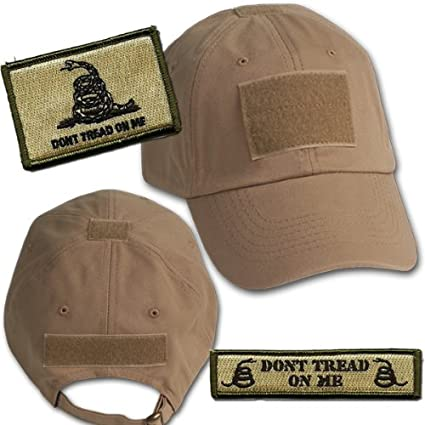 Amazon.com  Gadsden Tactical Hat   Patch Bundle (2 Patches + Hat ... 945fd7da4e9