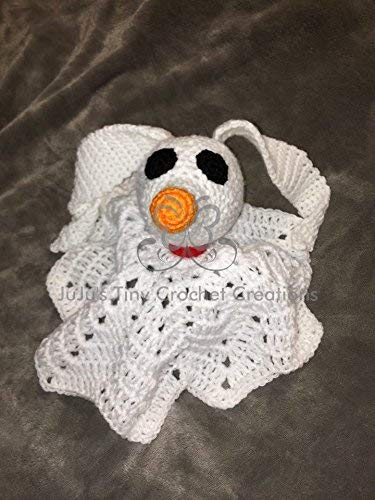 Disney Nightmare Before Christmas Zero Inspired Lovey Security Blanket - Jack Skellington - Lovey - Security Blanket - Baby Photo Prop - Infant - Tim Burton - Christmas Gift - Baby Shower - Halloween by JuJu's Tiny Crochet Creations