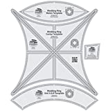 """Creative Grids Double Wedding Ring 17.25"""" - Set of Four Quilting Ruler Templates CGRDWR"""