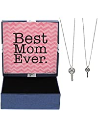Mother's Day Gift Mother Daughter Necklace Silver-Tone...
