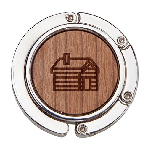 Log Cabin Wooden Purse Hanger, Purse Hook, Handbag Hanger, Table Hanger, Foldable And Travel Friendly (Table Back High Log)