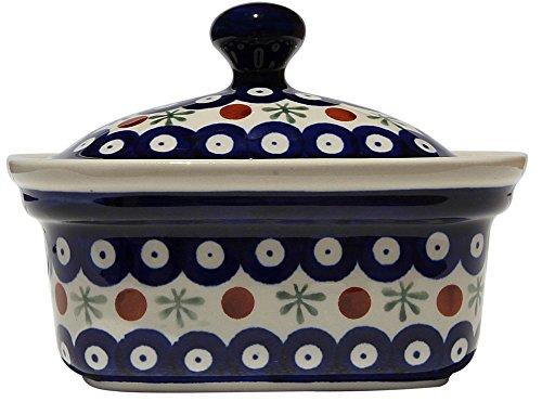 Polish Pottery Butter Tub From Zaklady Ceramiczne Boleslawiec 1188-41 Classic Pattern by Polish Pottery Market (Image #1)