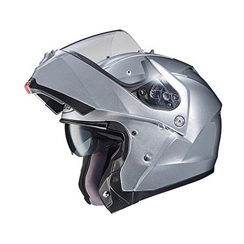 Silver Performance Street Helmet - HJC 980-574 IS-MAX II Modular Motorcycle Helmet (Silver, Large)