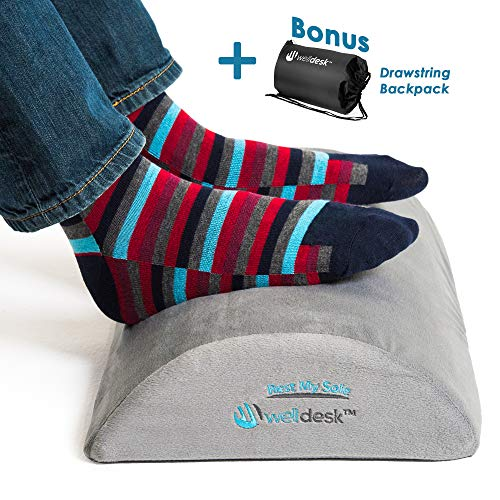 Rest My Sole - Foot Rest Cushion for Under Desk - Ergonomic Footrest Your Feet Will Love at Home or...