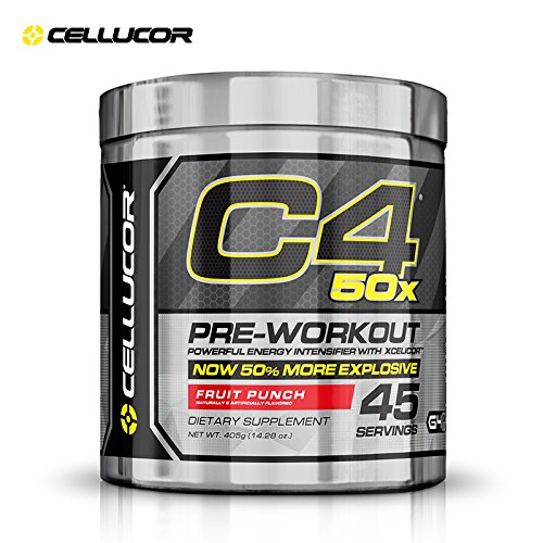 Cellucor C4 50X Pre Workout Supplement, High Energy Preworkout Powder with XCELICOR, 45 Servings, Fruit Punch