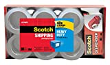 Scotch Heavy Duty Shipping Packaging Tape with Hand Dispenser, 3'' Core, 1.88'' x 54.6 Yards, 12 Rolls (3850-12-DP3)