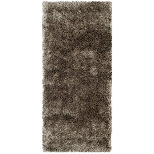 """Safavieh Paris Silken Shag Collection SG511-9292 Sable Shag Runner, 2 feet 3 inches by 10 feet (2'3"""" x 10')"""