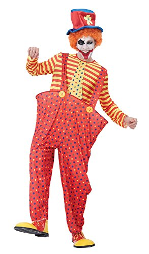 Circus Themed Costumes For Adults (Standard Men's Hoop Clown Costume)