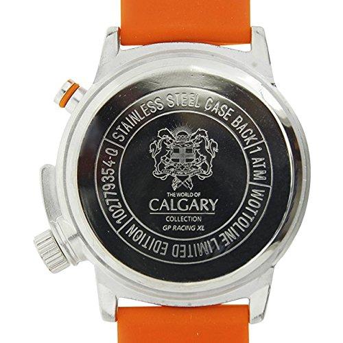 Relojes Calgary GP Racing XL. Reloj Deportivo para Hombre, Correa de Caucho Color Naranja, Esfera Color Azul: Amazon.es: Zapatos y complementos