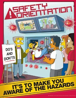Simpsons Safety Training Poster - Safety Orientation in the ...