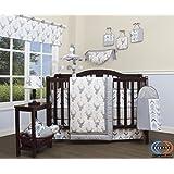 GEENNY 13 Piece Boutique Baby Nursery Crib Bedding Set, Woodland Deer Arrow, Multi-Colors, Crib