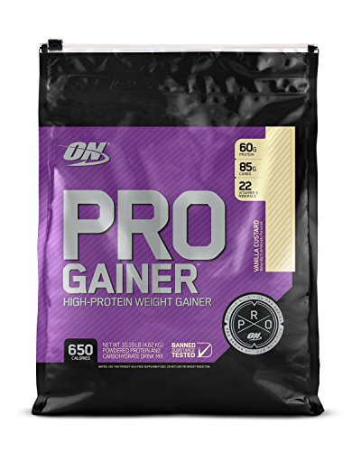 OPTIMUM NUTRITION Pro Gainer Weight Gainer Protein Powder, Vanilla Custard, 10.19 Pounds (Packaging May Vary)