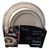 Blue Sky Premium Quality Heavyweight Plates, Ivory with Gold Border