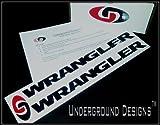 WRANGLER JK JKU Jeep Fender Decals 2007-2014 Sticker Kit GLOSS BLACK by Underground Designs