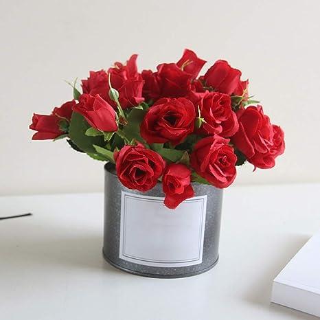 6SlonHy Lebendige Farbe K/ünstliche Blume Ausbleichen Mini Sukkulente Hochzeit Home Desk Bonsai Decor 1 St/ück 1# Regul/är
