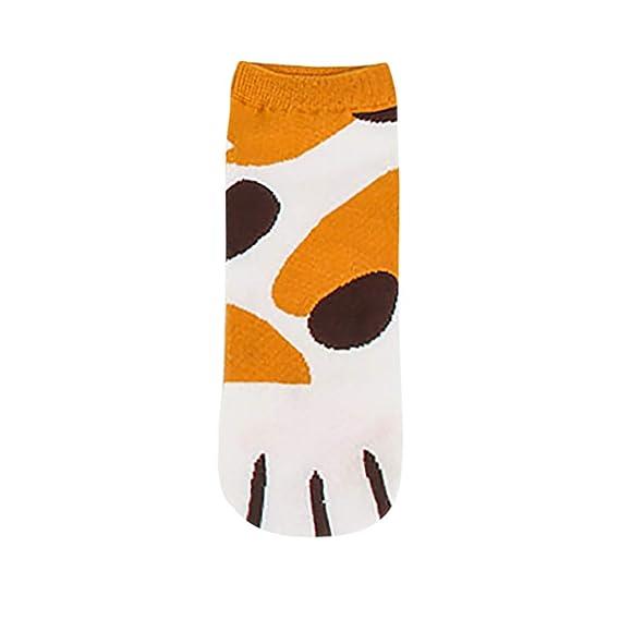 STRIR Calcetines de Algodón de Mujers calcetines térmicos lindos de las patas del gato del gatito Adulto Unisex Calcetines (A): Amazon.es: Ropa y accesorios