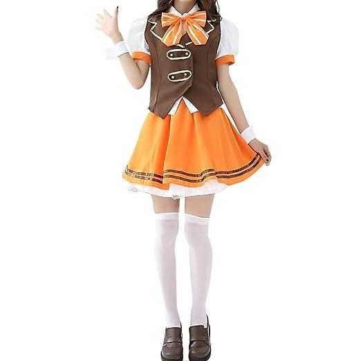 YKJ Anime Cosplay Halloween De La Mujer Uniforme Tapa y Una Falda ...