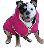 Dog Sweatshirt Hoodie, HOT PINK, Bulldog Large Review
