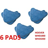 6 PACK Hoover Steam Mop Pads Compatible WH20200 Steam Mop # WH01000